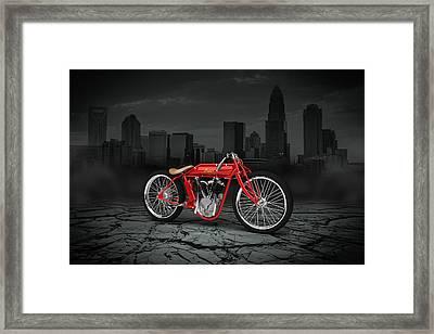 Indian Board Track Racer 1920 City Framed Print