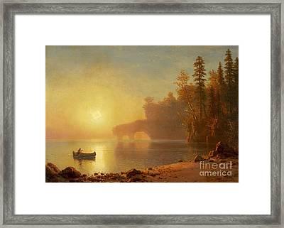 Indian Canoe Framed Print by Celestial Images