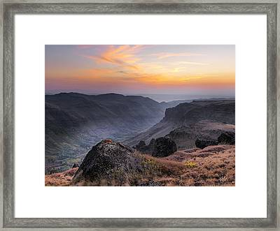 Indian Canyon Steens Framed Print by Leland D Howard