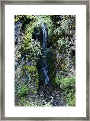 Framed Print featuring the photograph Indian Canyon Waterfall by Ben Upham III