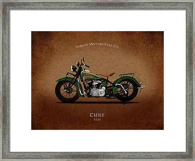 Indian Chief 1935 Framed Print by Mark Rogan