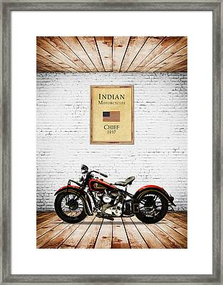 Indian Chief 1937 Framed Print by Mark Rogan