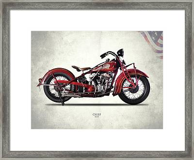 Indian Chief 1939 Framed Print by Mark Rogan