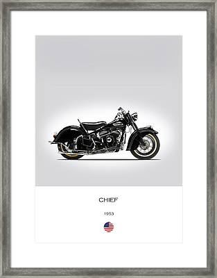 Indian Chief 1953 Framed Print by Mark Rogan