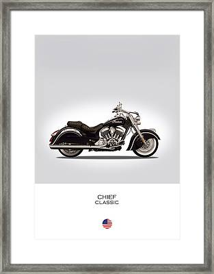 Indian Chief Classic Framed Print by Mark Rogan