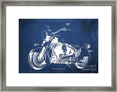 Indian Chief Dark Horse 2012  Blueprint Framed Print