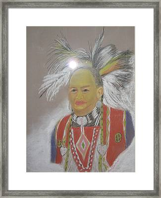 Indian Chief Framed Print by Geanene Anderson