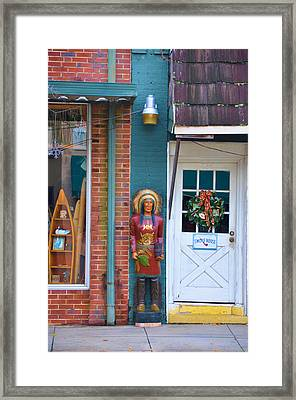 Indian Chief Framed Print by Jan Amiss Photography
