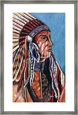Indian Chief Framed Print by John Keaton
