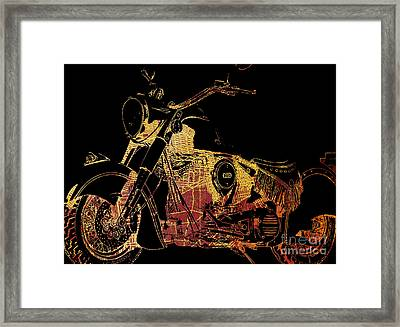 Indian Chief On Brooklin Framed Print by Pablo Franchi