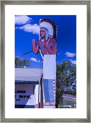 Indian Chief Sign Arizona Framed Print