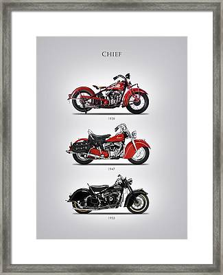 Indian Chief Trio Framed Print