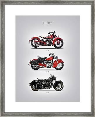 Indian Chief Trio Framed Print by Mark Rogan
