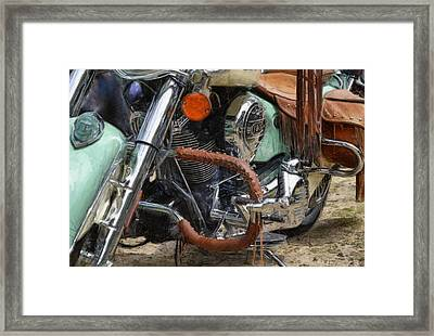 Indian Chief Vintage Ll Framed Print by Michelle Calkins