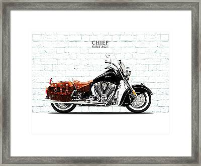 Indian Chief Vintage Framed Print by Mark Rogan