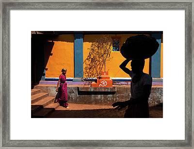 Indian Colors Framed Print by Marji Lang