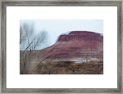 Indian Creek Winter Framed Print