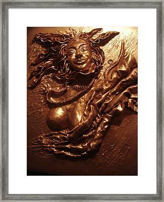 Indian Dancer Framed Print by Sethu Madhavan