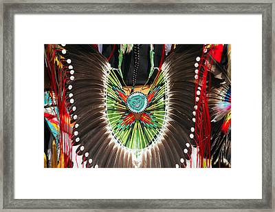 Indian Decorative Feathers Framed Print by Todd Klassy