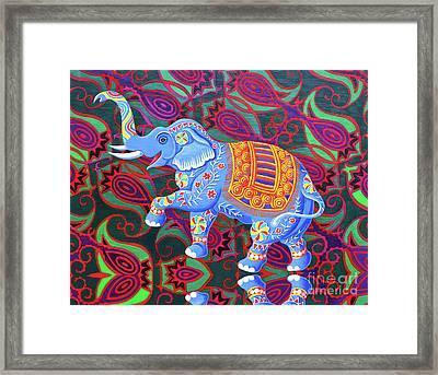 Indian Elephant Framed Print by Jane Tattersfield