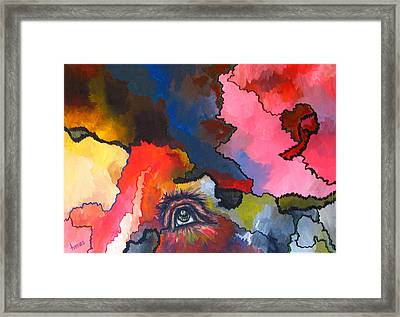 Indian Eye Framed Print by Laura Tveras