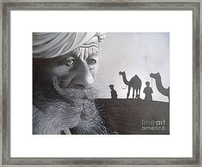 Indian Face Framed Print by Dhiraj Parashar