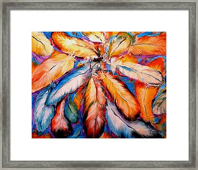 Indian Feathers 2006 Framed Print by Marcia Baldwin