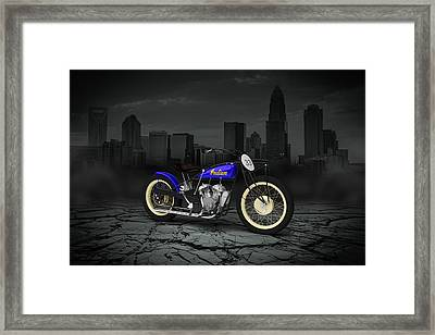 Indian Flat Track Racer 1928 City Framed Print