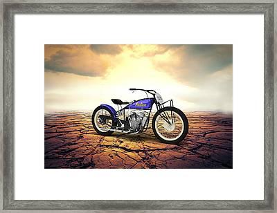 Indian Flat Track Racer 1928 - Desert Framed Print