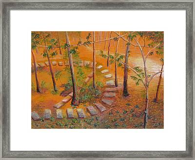 Indian Garden Framed Print by Art Nomad Sandra  Hansen