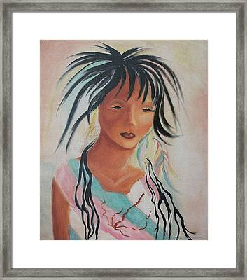 Indian Girl Framed Print by Suzanne  Marie Leclair