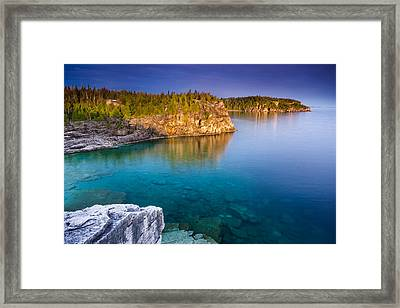 Indian Head Cove Sunrise  Framed Print