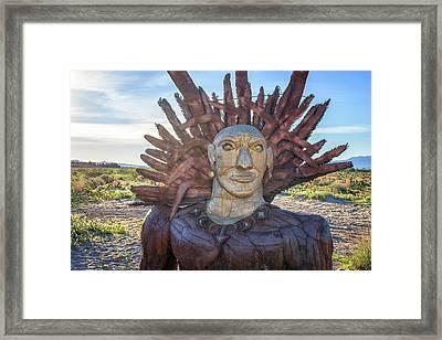 Indian Head Framed Print