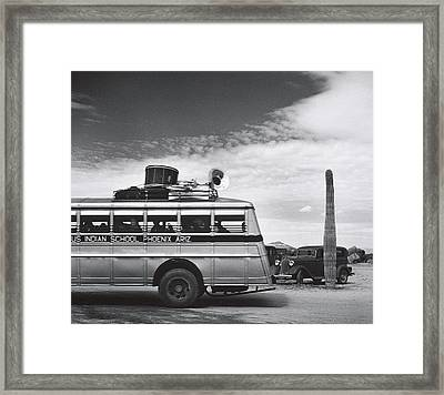 Indian High School Band On The Road Somewhere In Arizona 1937 Framed Print