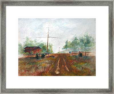 Indian Hills Framed Print