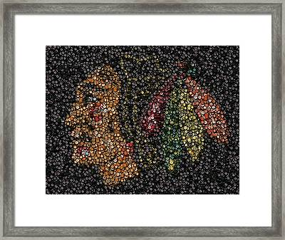 Indian Hockey Puck Mosaic Framed Print