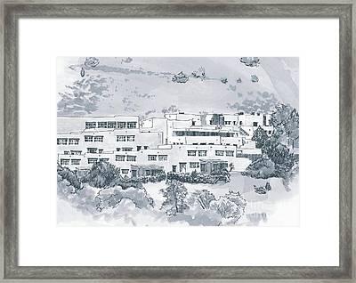 Indian Lodge Framed Print by Karen Boudreaux