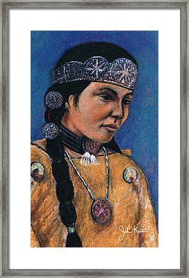 Indian Maiden Framed Print by John Keaton