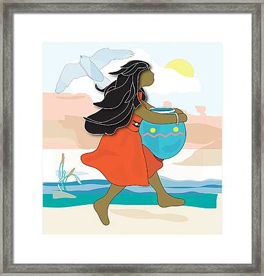 Indian Maiden Framed Print by Susan Nelson