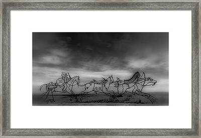 Indian Memorial At Little Bighorn National Monument Framed Print by Marissa Hodge