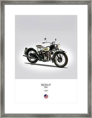 Indian Model 741 1941 Framed Print by Mark Rogan