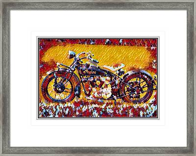 Indian Motorcycle Colorful  Framed Print