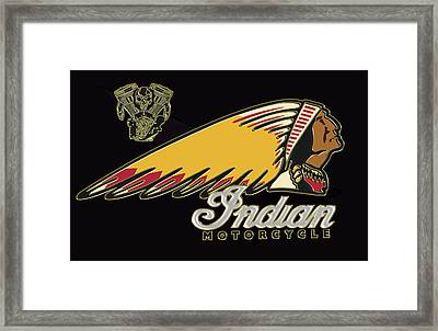 Indian Motorcycle Logo Series 2 Framed Print