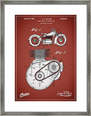 Indian Motorcycle Patent 1943 Framed Print