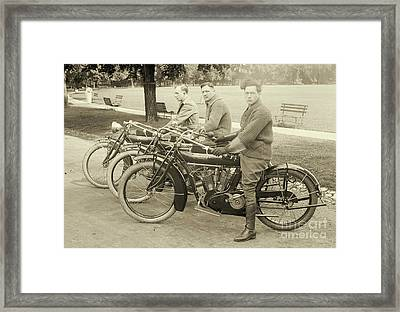 Indian Motorcycle Relay Team 1918 Framed Print by Padre Art