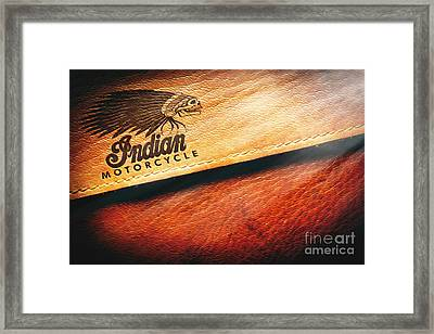 Indian Motorcycle Buffalo Leather Bag Framed Print by Stefano Senise