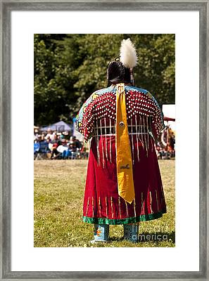 Indian Nation Pow Wow Dancers Framed Print by Jim Corwin