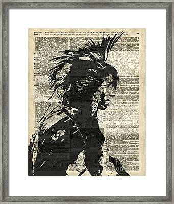 Indian Native American Framed Print by Jacob Kuch