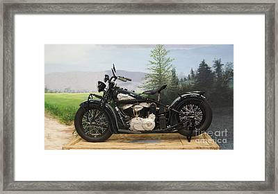 Indian On Crate Restored And Incredible   # Framed Print by Rob Luzier