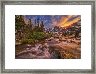 Indian Peaks Sunset Framed Print by Darren  White